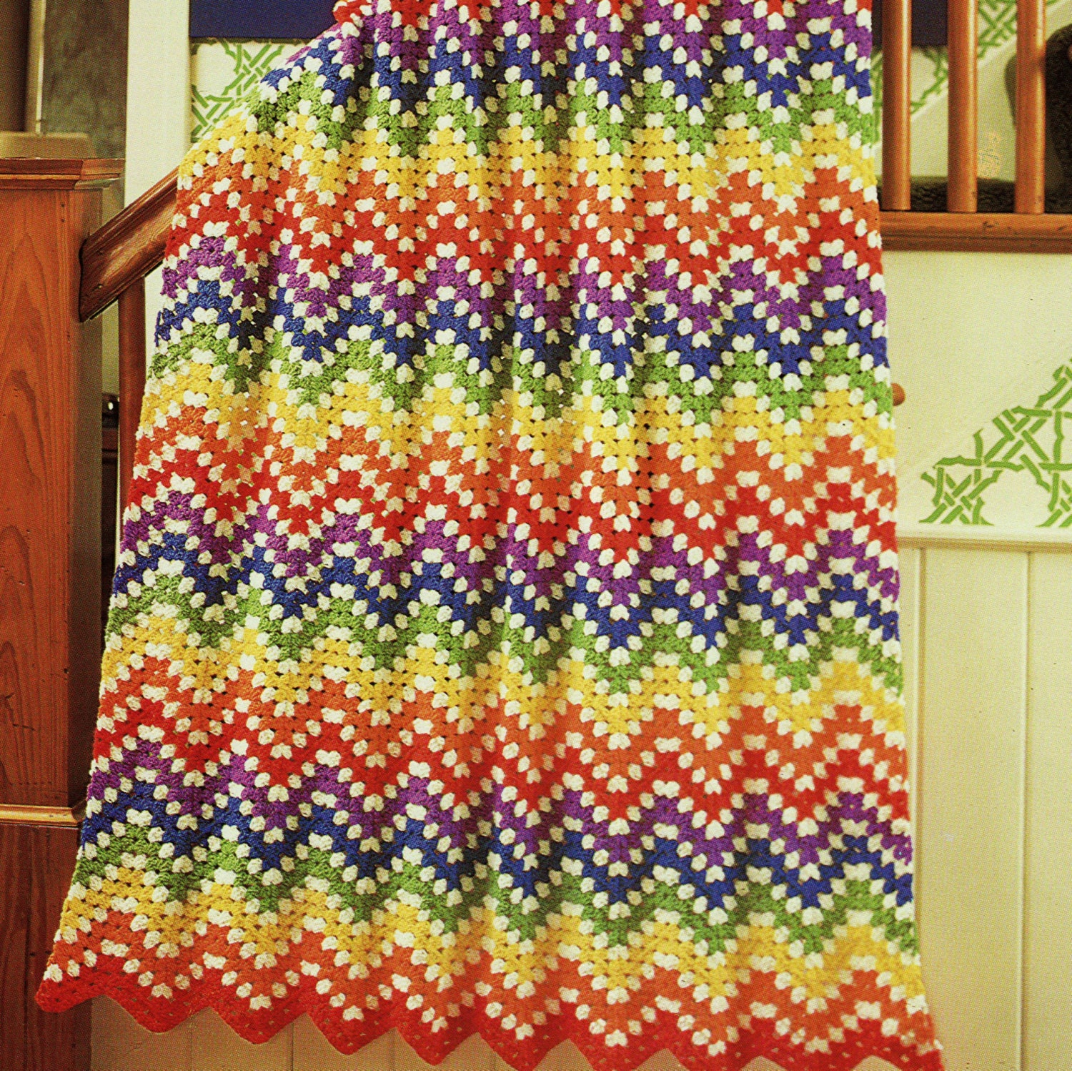 INSTANY DOWNLOAD PDF Vintage Crochet Pattern for Rainbow