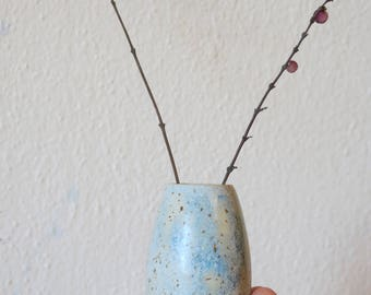 Light Blue speckled vase