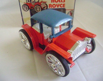 Vintage Rolls Royce Flip Over Car with Original Box, Battery Operated Toy, 1970's, Good Working Condition