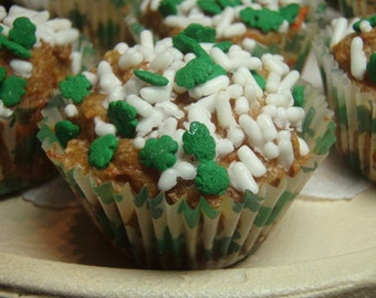 St. Patrick's Day PupCakes Tiny Cupcake - - All Natural Organic Vegetarian Dog Treats LIMITED EDITION - Shorty's Gourmet Treats