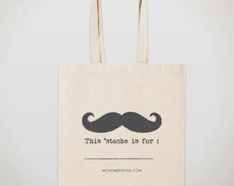 Mustache Tote