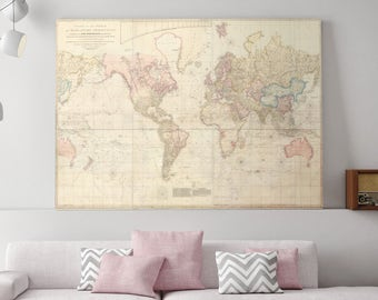 Globes maps etsy world map canvas large world map map of the world map of world world world map map of the united states canvas map canvas art 170 gumiabroncs Gallery