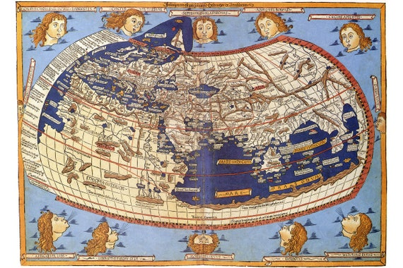 World map according to ptolemy antique map historical te gusta este artculo gumiabroncs Gallery