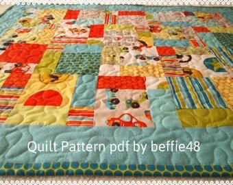 Pattern, Charm Pack, Magic 9 Block Quilt Pattern Tutorial, pdf,