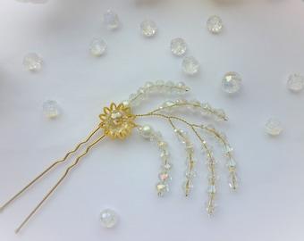 Bridal Hair pin,Crystal Hair pin,Wedding Hair Accessories,Bridal Hair Pin,Bridal Hair Accessories, Gold hair pin, Hair vine. rose gold hair