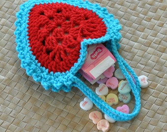PDF Granny Heart Superstar Hanging Hearts Valentine Crochet Pattern