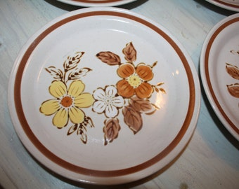 Vintage WildWood Salad PLATE Autumn Collection Stoneware Japan bread butter