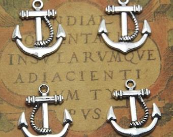 15pcs anchor Charms silver tone anchor Charms pendants 20mm x 23mm ASD1280