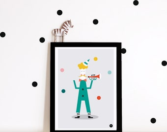 Circus Nursery decor, nursery wall art, circus poster, nursery print, kids wall art, clown, nursery art, kids room decor
