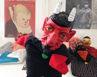 """Devil"" hand puppet. Vintage 1960's"