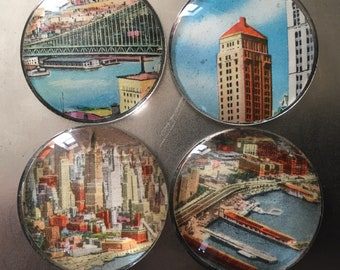 Manhattan Bridge-Postkarte-Magnet-set