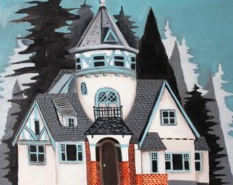 Oil Painting - Original Painting - Original Art - House Painting - Art - Art Painting - Painting of a House - 42nd Ave House