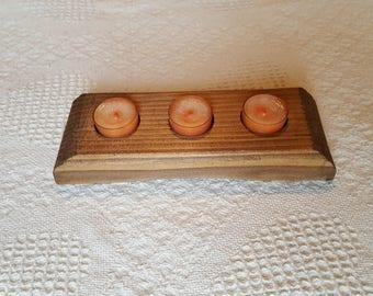 Decorative Wood Tea Light Candle Holder