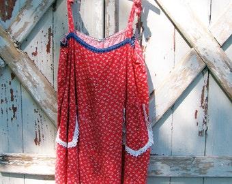 Sunshine - vintage hippie mini dress top 60s M L XL