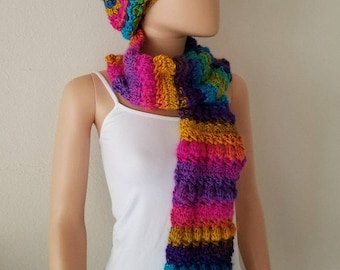 Crossed Bobbles Scarf Crochet Pattern *PDF FILE ONLY* Instant Download