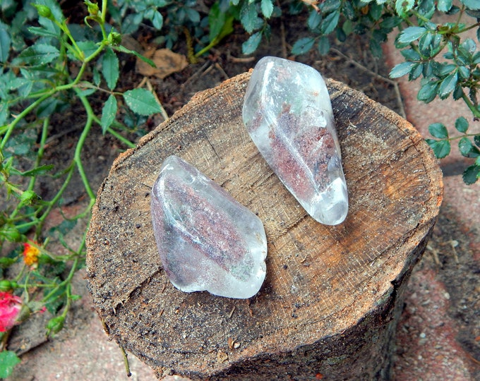 LARGE Scenic Quartz LODOLITE natural gemstone garden quartz with chlorite - Reiki Wicca Pagan Geology gemstone specimen