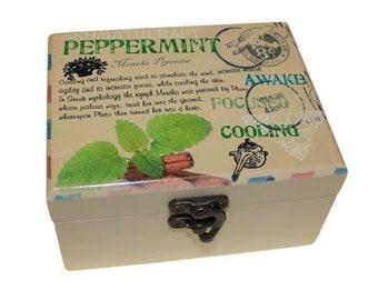 Aromatherapy Box - Holds 12 (Design D)