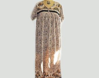 Vintage 70s indian cotton dress