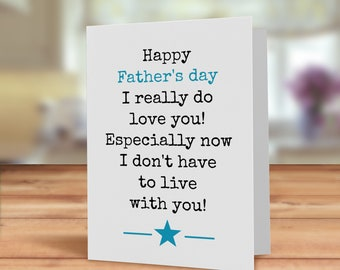 Funny Father's day card, Father's day card, funny card for dad, humorous fathers day card, Dads day card, Father's day