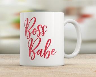 Boss Babe Mug, Female Entrepreneur, Girl Boss, Boss Lady, Gift for Friend, Boss Gift, Boss Appreciation, Empowered Women, Boss Babe Cup