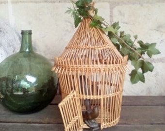 old vintage birdcage french 60's