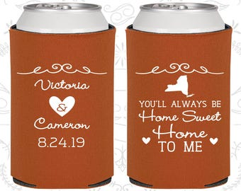 You will always be Home Sweet Home to Me, Personalized Favors,Romantic Wedding Favors,Rehearsal Dinner Favors,Wedding Party Coolie (473)