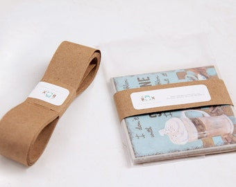 50 Yards-KRAFT Binding or Wrapping Ribbon -100 Percent Recycled Paper