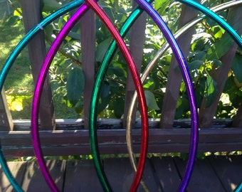 Mirror Taped polypro or HDPE hula hoop - Fully covered in mirror tape and clear protective tape