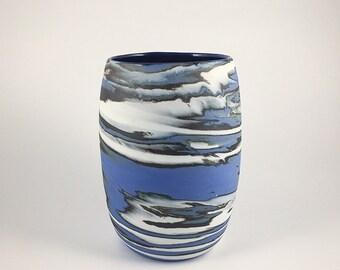 Large Marbled Porcelain Vase