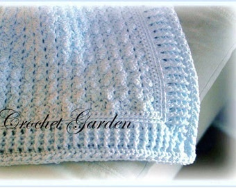 Baby Afghan Crochet Pattern - Crochet Cable Afghan Pattern - Boy Crochet Blanket Pattern - Afghan Of The Sandman