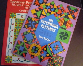 3 Books 101 Patchwork Patterns, Full Size Traditional Patchwork Patterns Techniques Instructions, Projects, Materials Knots Sewing BOOK SALE