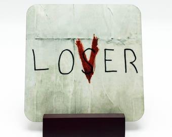 Loser Lover Coaster Loser Lover Drink Coaster It Coaster It Movee Coaster Loser Club Horror Coaster Horror Decor Pennywise Stephen King