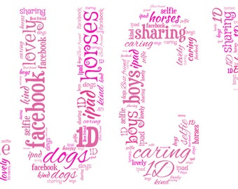 Personalised Word Art - ANY Name design - A4 Print or Digital File