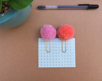 Bible Journaling Clips . Pom Pom Clips. Planner Clips . Bullet Journal Clips . Bookmarks. Page Markers. Bible Bookmarks.
