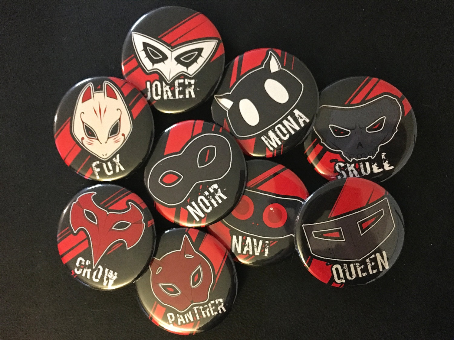 Persona 5 Phantom Thieves Of Hearts Pinback Buttons