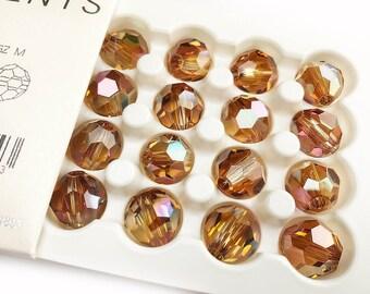 5900 14mm Genuine Swarovski® Round Bead Copper (cop) - Large Hole