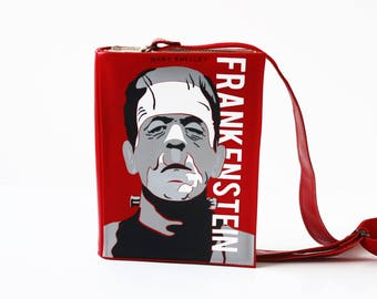 Frankenstein Leather Book Bag Mary Shelley Book Purse