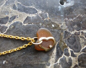 Sea Glass Necklace Heart me