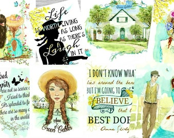 Anne of green Gables Collection 4X5 set of 8 postcard size.