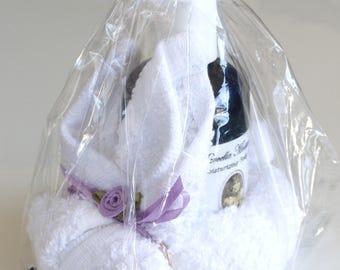 Bunny Washcloth & Lavender Moisturizing Oil 4ozs
