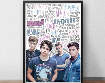 The Vamps quote print / poster hand drawn type / typography