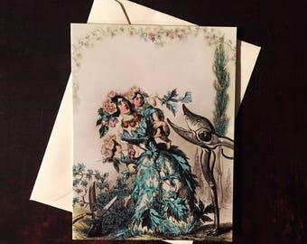 Aubépine (Hawthorn Blossom): Greeting Card