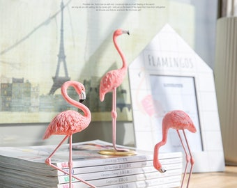 pink resin FLAMINGO statue for home decor and design