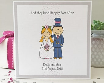 Personalised Wedding Card, Engagement Card, Anniversary Card.
