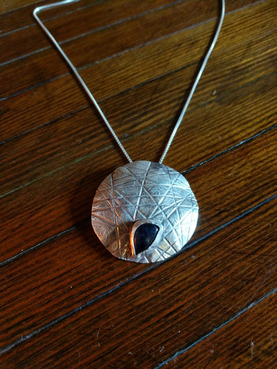Iolite with sterling silver Necklace