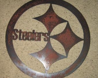 Pennsylvania Football Sign-Metal Art- Sports Art- Steel Art- Metal Wall Hanging- Man Cave Art