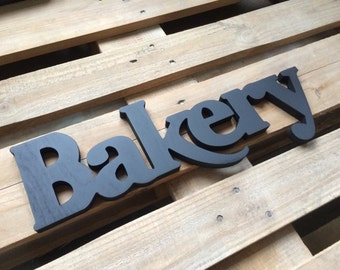 Bakery Wood Sign - Bakery Sign -  Rustic Wooden Bakery Sign
