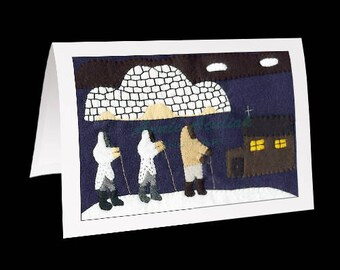 "Inuit Greeting Card #1 ""Going to Church"" by Annie Aculiak"