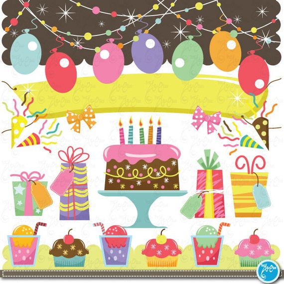 birthday Clip Art baby birthday party graphic kids party