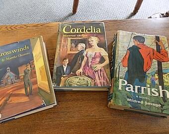 3 Vintage Retro Books - Romance - Cool Covers